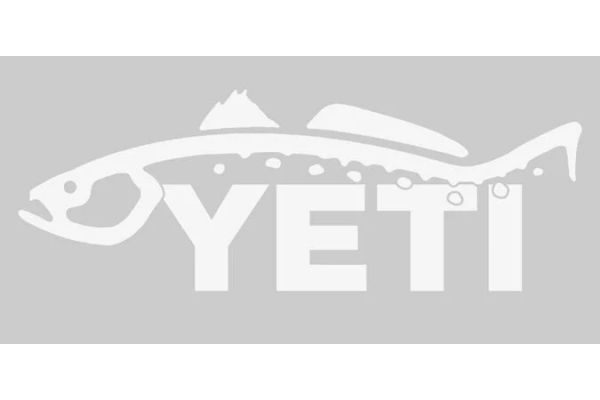 YETI Trout Window Decal - 21090000010
