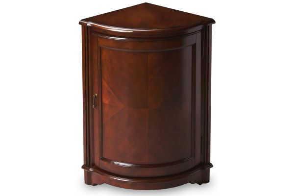 Large image of Butler Specialty Company Durham Cherry Corner Cabinet - 2115024