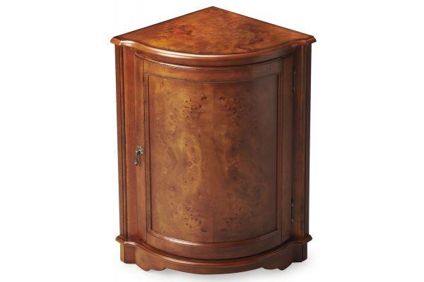 Large image of Butler Specialty Company Durham Olive Ash Burl Corner Table - 2115101