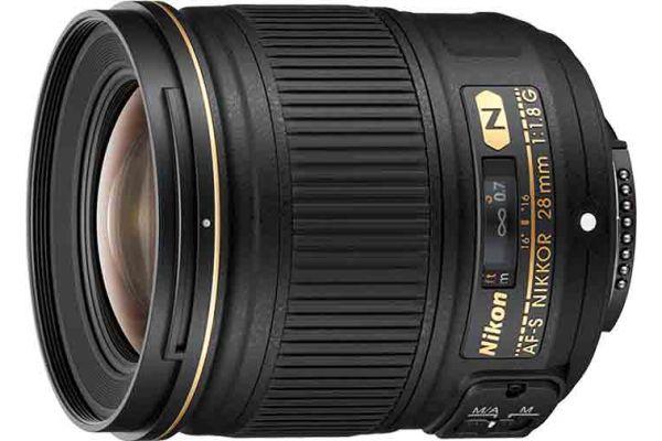 Large image of Nikon AF-S NIKKOR 28mm f/1.8G Lens - 2203N
