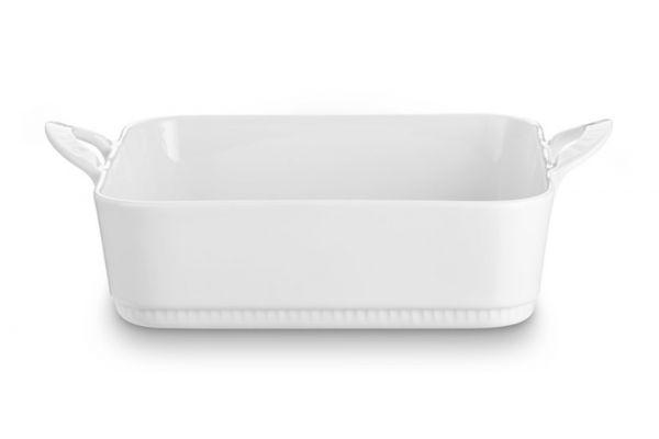 "Large image of Pillivuyt Porcelain 8.25"" Toulouse Square Bakers - 221722BL"