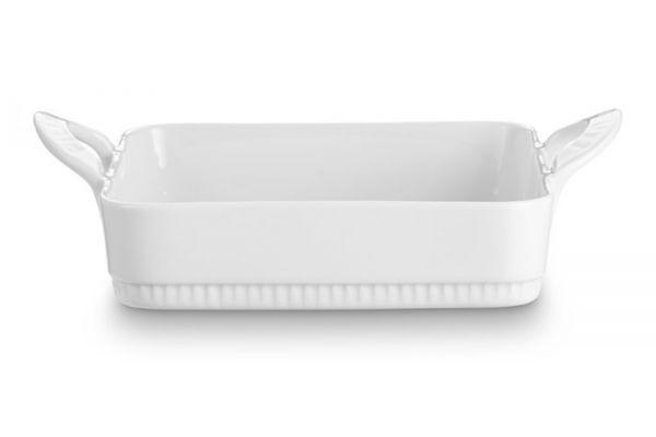 "Large image of Pillivuyt Porcelain 9.75"" x 9"" Toulouse Rectangular Bakers - 221725BL"