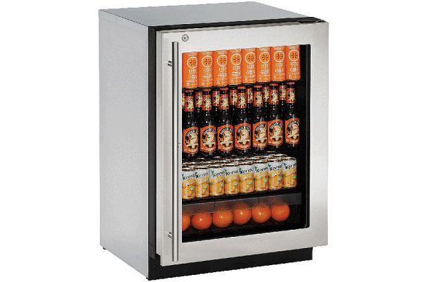 "U-Line 24"" 2000 Series Stainless Steel Refrigerator - U-2224RGLS-13B"