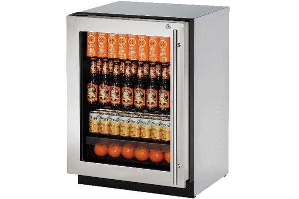 "U-Line 24"" 2000 Series Stainless Steel Refrigerator - U-2224RGLS-15B"