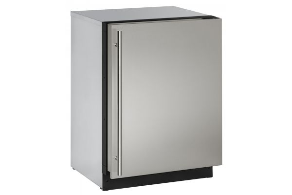 """Large image of U-Line 2000 Series 24"""" Stainless Steel Undercounter Compact Refrigerator - U-2224RS-00B"""