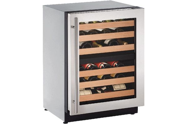 "U-Line 24"" 2000 Series Stainless Steel Wine Captain Cooler - U-2224ZWCS-00B"