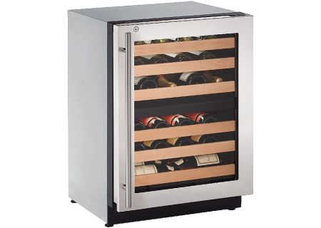 "U-Line 24"" 2000 Series Stainless Steel Wine Captain Cooler - U-2224ZWCS-13B"