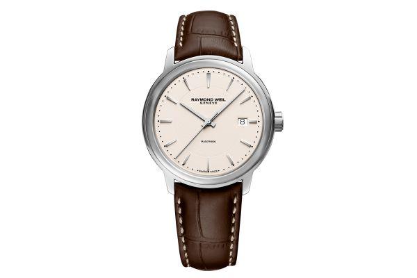 Raymond Weil Maestro Beige Dial Automatic Mens Watch - 2237STC65011