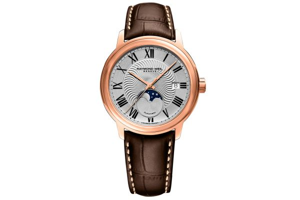 Large image of Raymond Weil Maestro Moon Phase Rose Gold Automatic Mens Watch - 2239PC500659