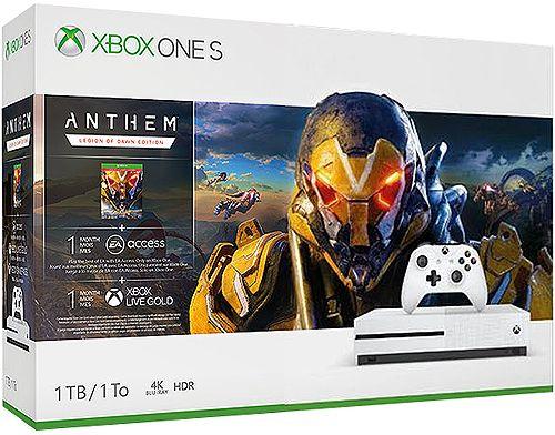 Microsoft Xbox One S 1TB Anthem Legion Of Dawn Edition Bundle