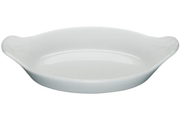 Large image of Pillivuyt Mini Porcelain Oval Eared Gratin - 240314