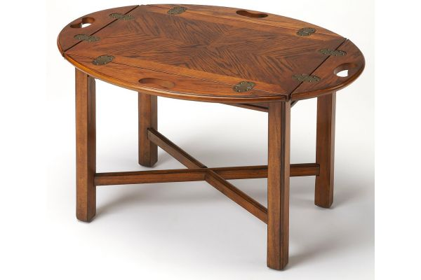 Large image of Butler Specialty Company Carlisle Vintage Oak Butler Table - 2427001