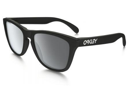 Oakley Mens Wayfarer Frogskins Polarized Black Sunglasses - OO9013 24-297