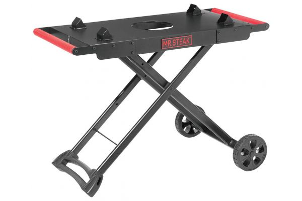 Mr. Steak Black And Red Portable Grill Cart - 2472266