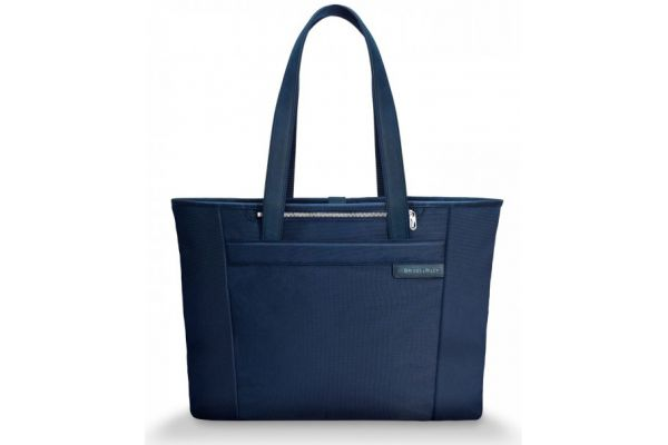 Large image of Briggs & Riley Navy Large Shopping Tote - 255-5