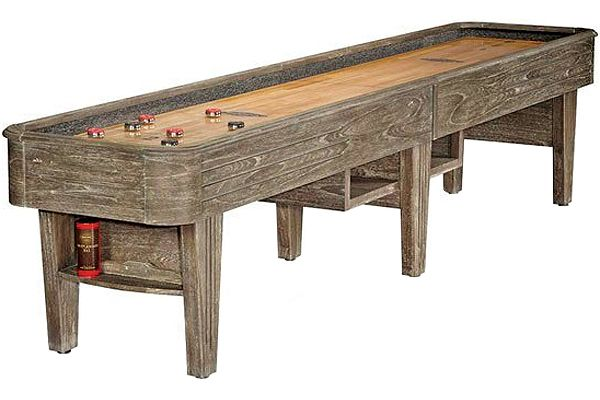 "Large image of Brunswick Andover II 14"" Driftwood Shuffleboard Table - 26137430000"