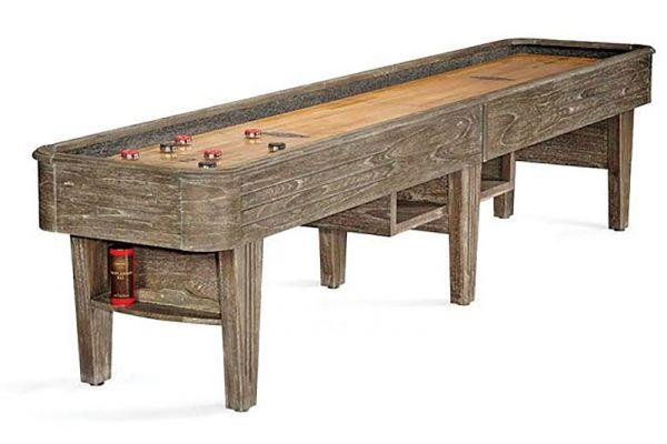 Large image of Brunswick Andover II 12' Driftwood 2-Piece Shuffleboard Table - 26148231000