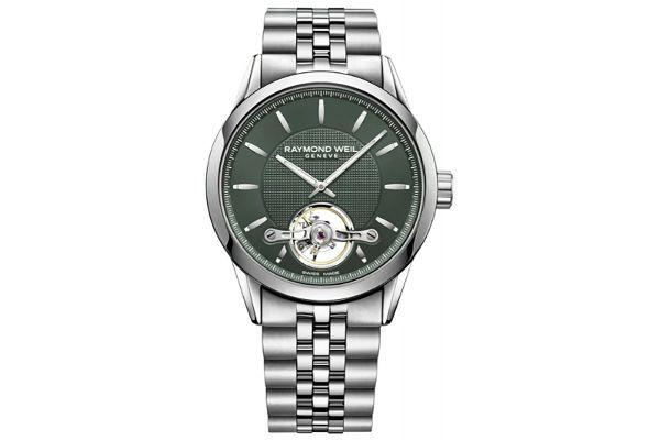 Large image of Raymond Weil Freelancer Green Dial Automatic Mens Watch - 2780ST52001