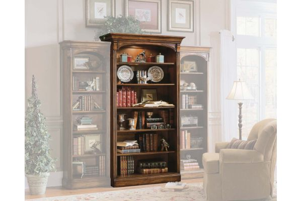 Large image of Hooker Furniture Home Office Brookhaven Open Bookcase - 281-10-545