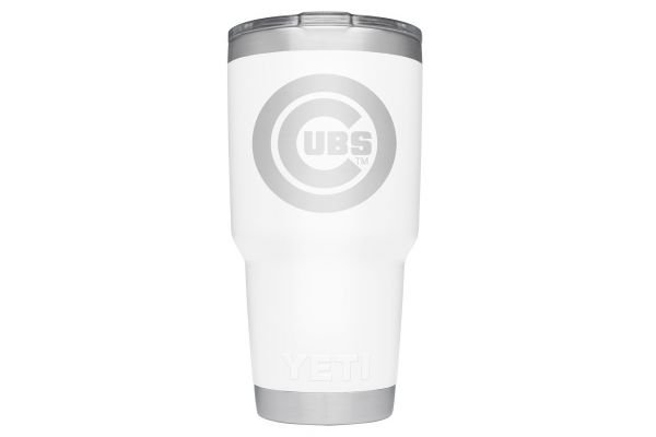 Large image of YETI Cubs White 30 Oz Rambler With MagSlider Lid - 28100000036