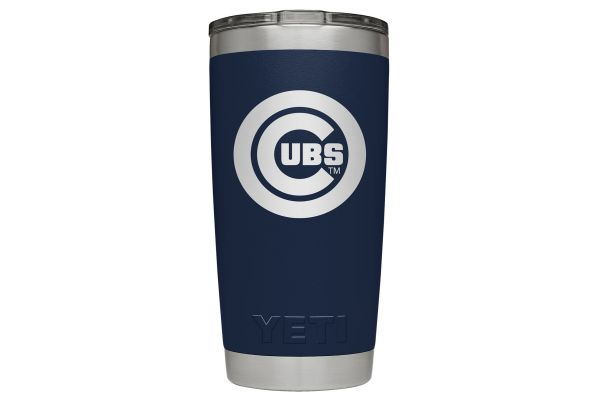 Large image of YETI Cubs Navy 20 Oz Rambler With MagSlider Lid - 28100000042