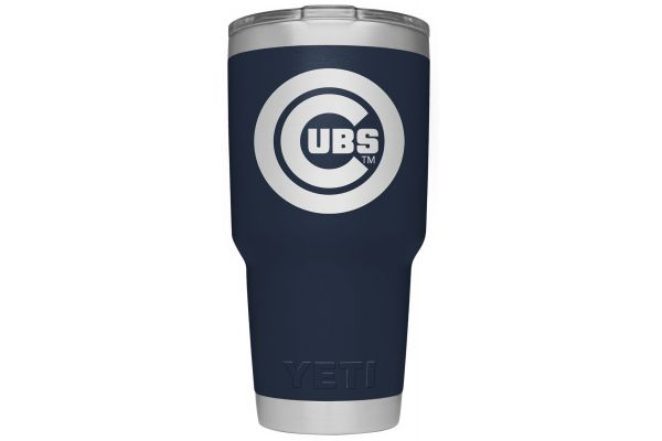 Large image of YETI Cubs Navy 30 Oz Rambler With MagSlider Lid - 28100000043