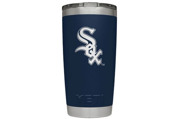 Large image of YETI White Sox Navy 20 Oz Rambler With MagSlider Lid - 28100000434