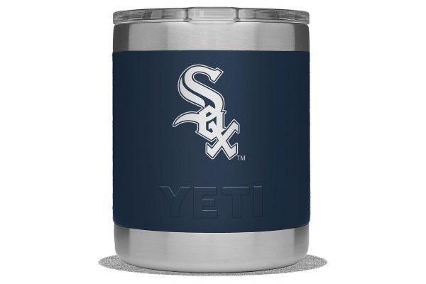 Large image of YETI White Sox Navy 10 Oz Rambler Lowball - 28100000437