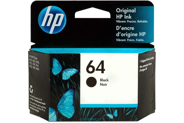 Large image of HP 64 Black Original Ink Cartridge - 2CM304