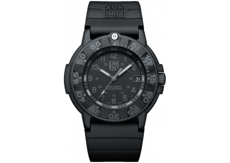 Luminox Original Navy Seal 3000 Series Black Mens Watch - 3001.BO