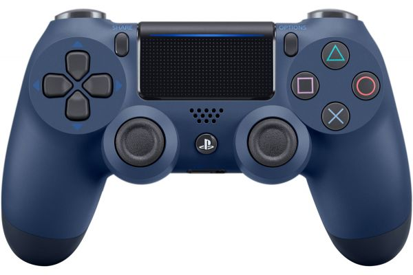 Large image of Sony PlayStation 4 DualShock 4 Midnight Blue Wireless Controller - 3002840