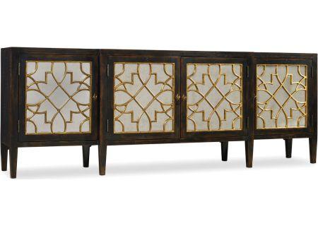 Hooker Furniture Living Room Ebony Sanctuary Four Door Mirrored Console - 3005-85005