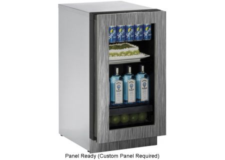 "U-Line 18"" Panel Ready Glass Door Compact Refrigerator - U-3018RGLINT-00B"