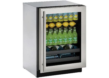 "U-Line 24"" Modular 3000 Series Stainless Steel Beverage Center - U-3024BEVS-00B"