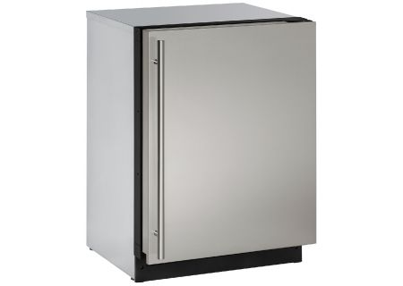 "U-Line 24"" 3000 Series Stainless Steel Undercounter Compact Refrigerator - U-3024RS-00B"
