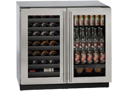 "U-Line 36"" Modular 3000 Series Stainless Steel Beverage Center - U-3036BVWCS-00B"