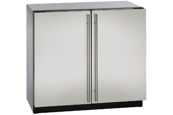"U-Line 36"" Stainless Steel Double Door Compact Refrigerator - U-3036RRS-00B"