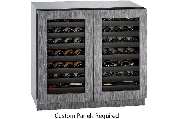 "Large image of U-Line 36"" 3000 Series Integrated Frame Dual-Zone Wine Refrigerator - U-3036WCWCINT-00B"