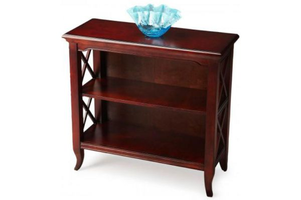 Large image of Butler Specialty Company Newport Plantation Cherry Low Bookcase - 3044024