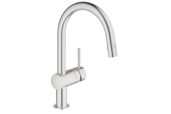 GROHE Minta SuperSteel Single-Handle Kitchen Faucet - 31378DC0