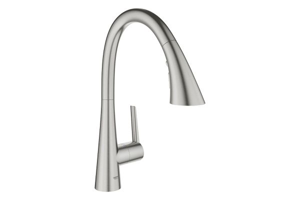 Large image of GROHE Ladylux SuperSteel Infinity Single-Handle Kitchen Faucet - 32298DC3