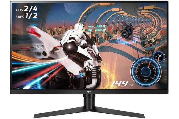 "Large image of LG 32"" Black UltraGear QHD Gaming Monitor With FreeSync - 32GK650F-B"