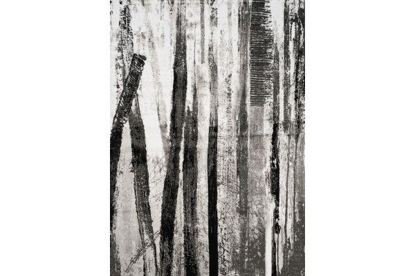 "Large image of Kalora Platinum 2'8"" X 4'11"" Dark Forest Rug - 3375/61 80150"