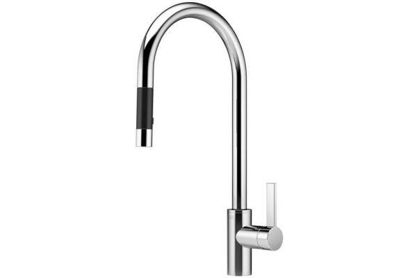 Dornbracht Matte Platinum Tara Ultra Single Lever Mixer Pull-Down Spray Faucet - 33 870 875-06 0010