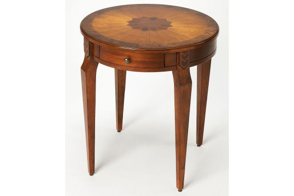 Large image of Butler Specialty Company Archer Olive Ash Burl Side Table - 341101