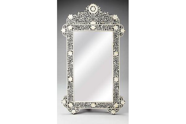 Butler Specialty Company Vivienne Black Bone Inlay Wall Mirror - 3481318