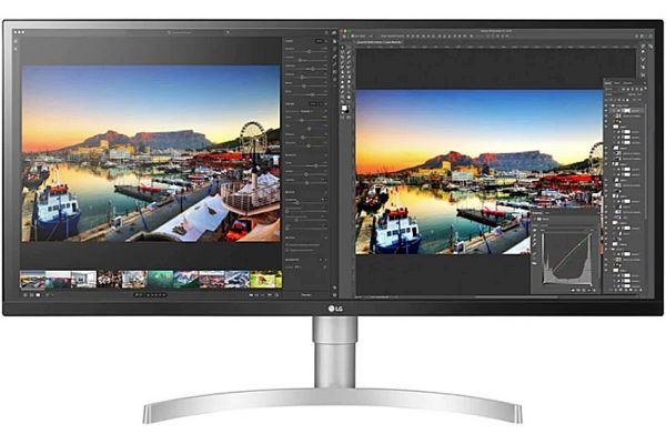 "Large image of LG 34"" White UltraWide WQHD Nano IPS Computer Monitor - 34WL850WAUS"