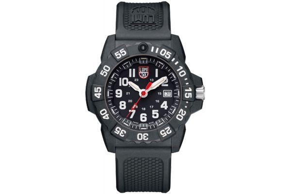 Luminox 45mm Navy SEAL Black Stainless Steel Mens Watch - 3501
