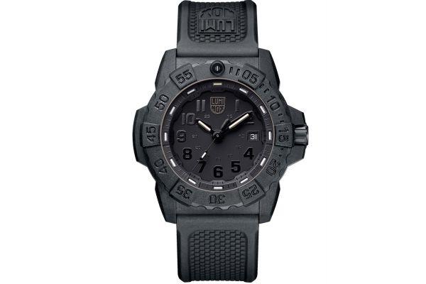 Luminox 45mm Navy SEAL Black Mens Watch - 3501BO