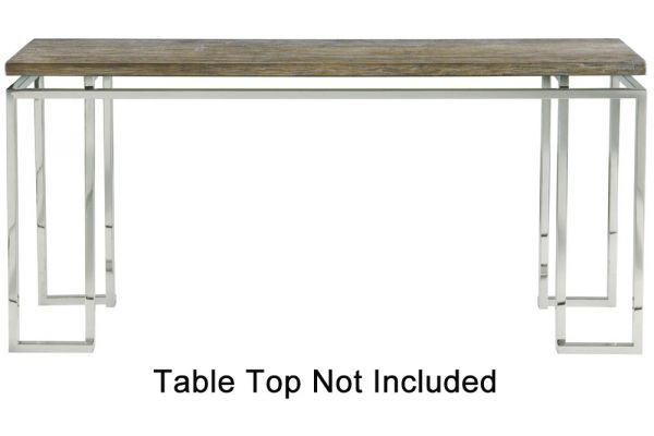 Bernhardt Stainless Steel Waverly Console Table Base - 353-911